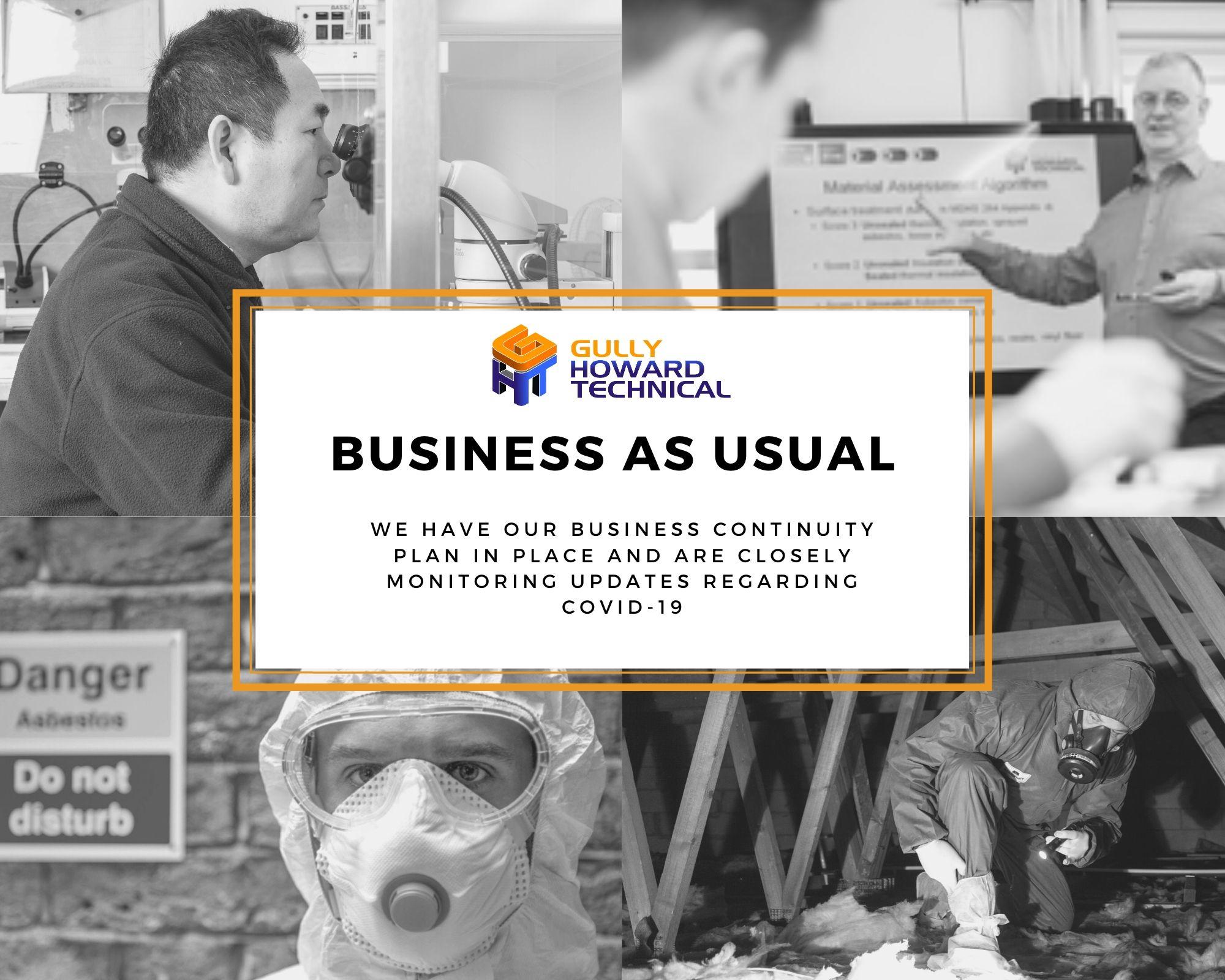 BUSINESS UPDATE REGARDING COVID-19
