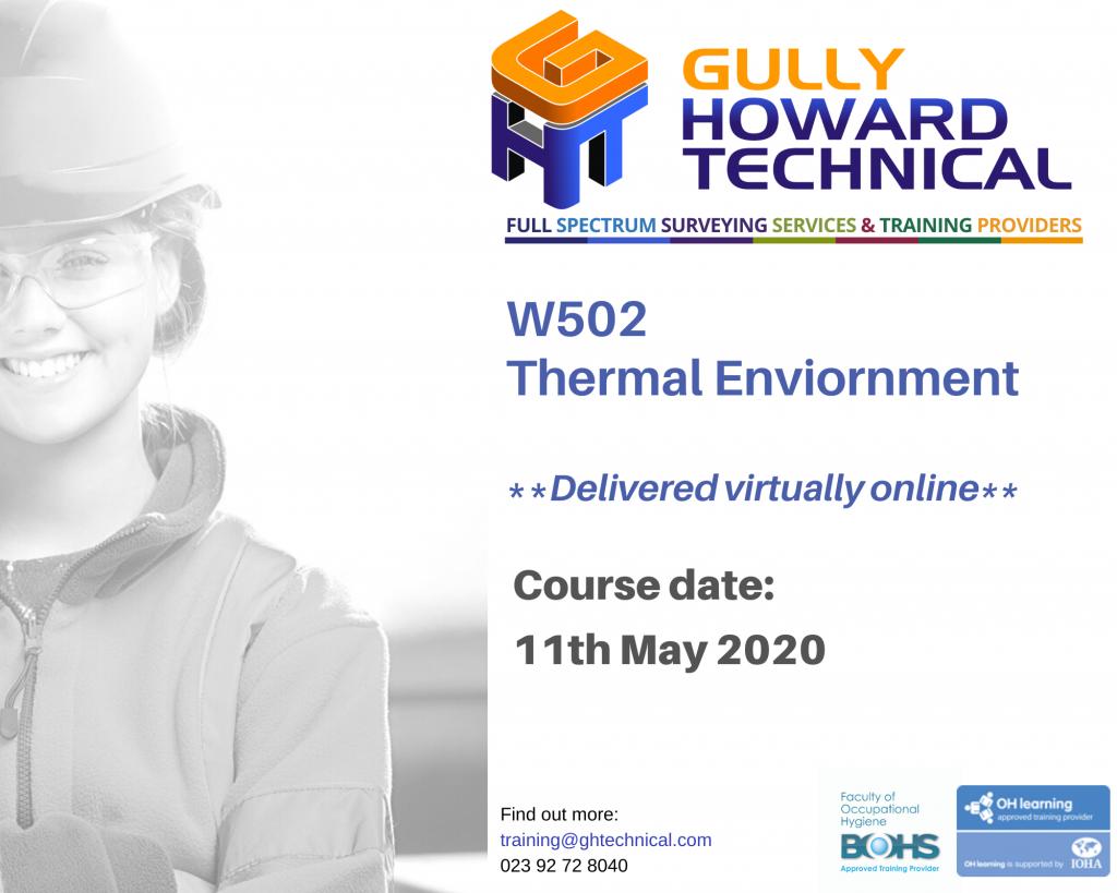 Covid-19 & Online Training Part 1 Occupational Hygiene W201/W500 Series